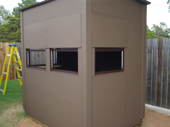 Deer stand oklahoma shooters for Building deer blind windows