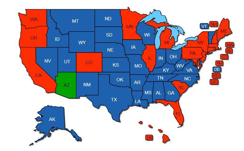 Show Me The Map Of Arizona.Any Advantage In Having A Non Resident Arizona Ccl Oklahoma Shooters